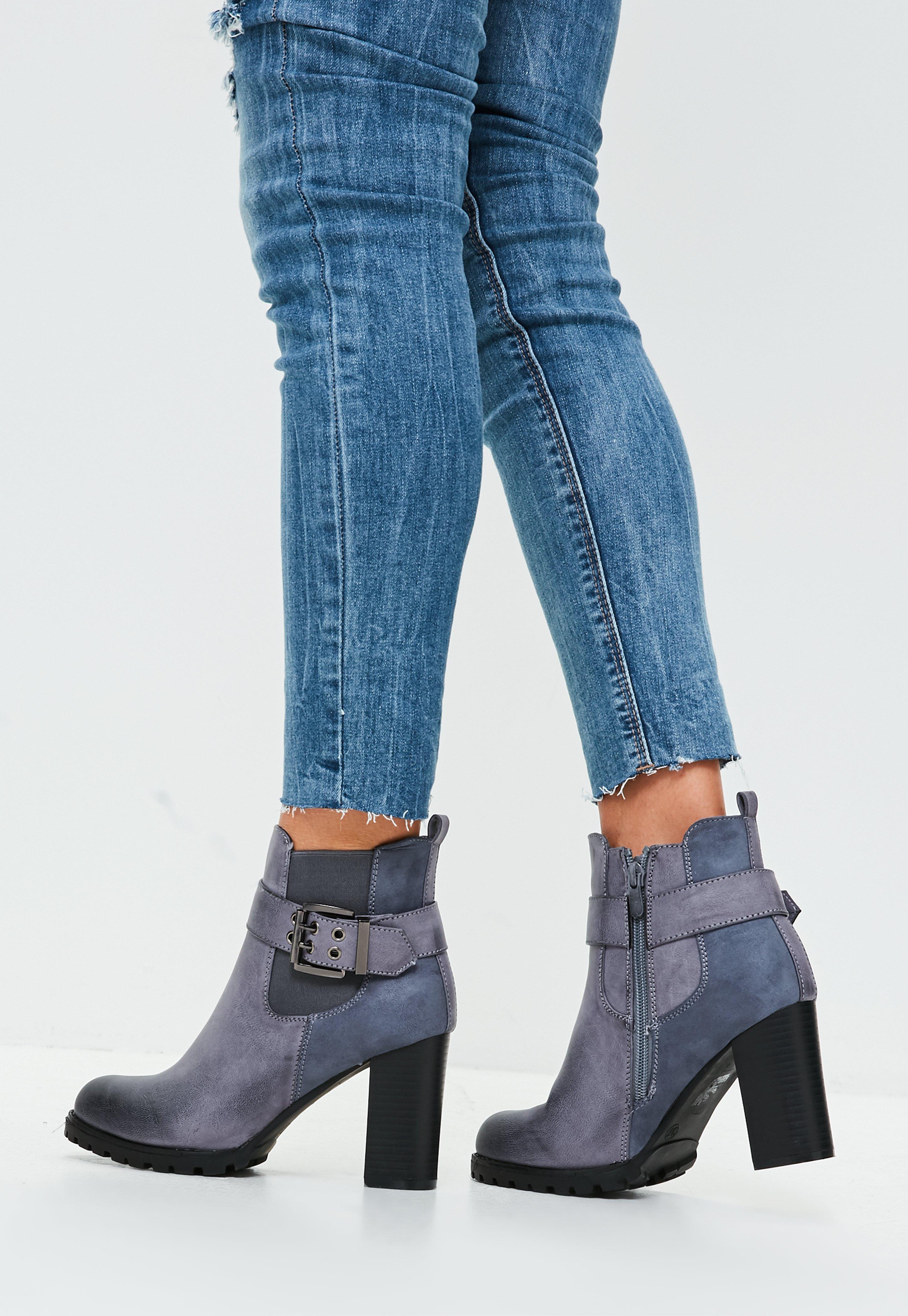 bottine à talon | boots & bottes à talons femme - missguided