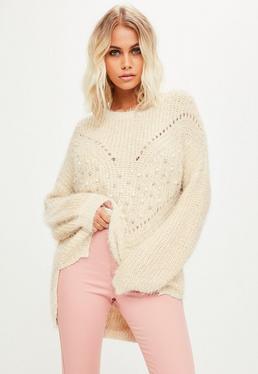 Beige Pearl Knitwear Jumper