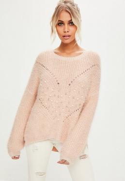 Pink Pearl Knitwear Sweater