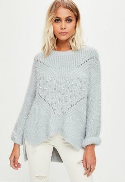 Grey Pearl Knitwear Jumper
