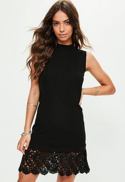 Czarna sukienka bez rękawów