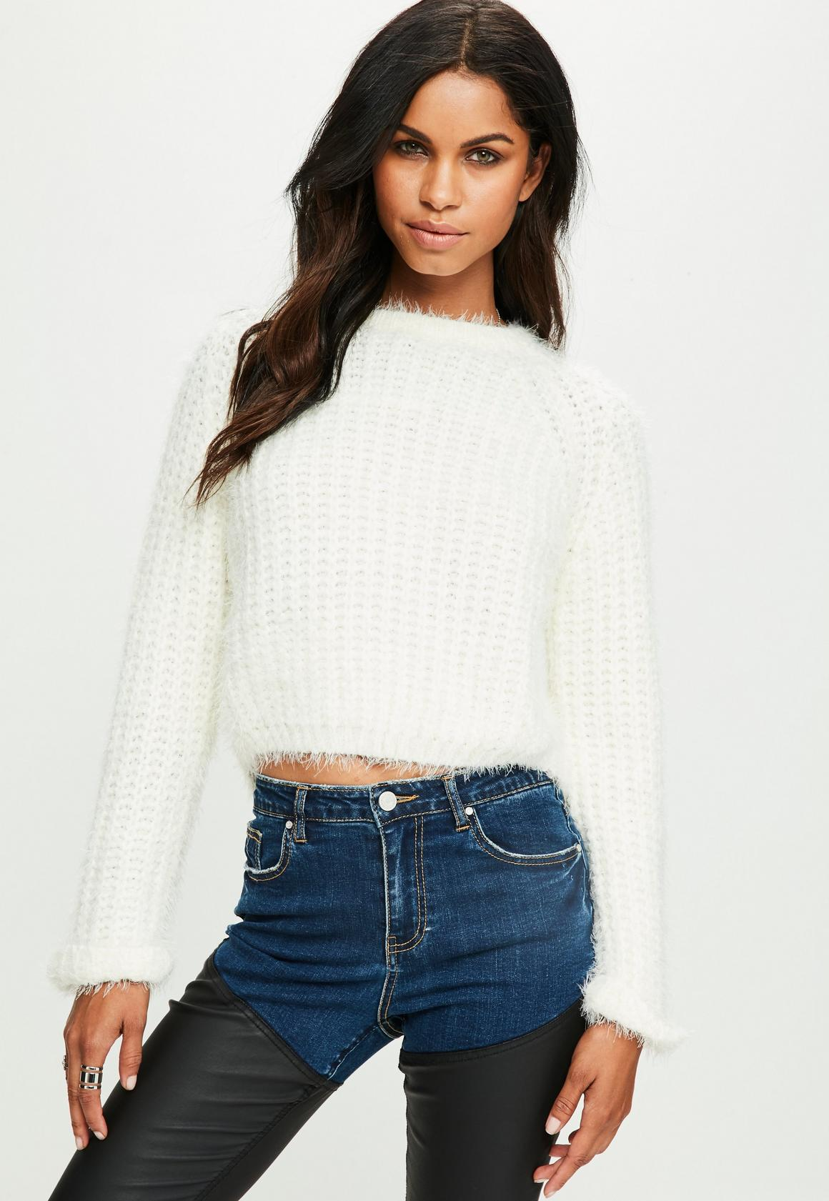 Cream Ribbed Chunky Knit Sweater | Missguided