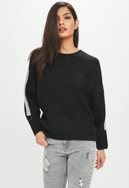Black Ribbed Sparkly Sweater