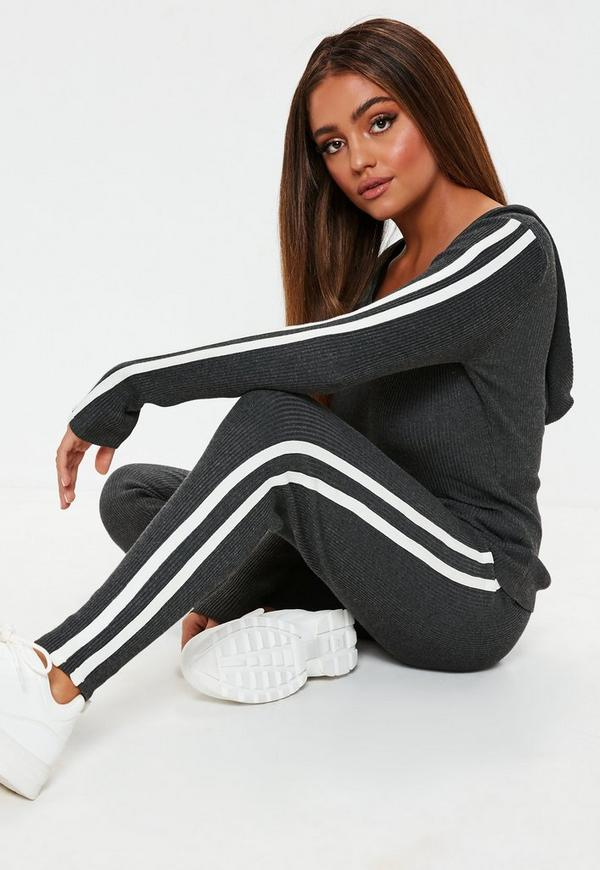 ba6c59bfd964c ... Gray Ribbed Hoodie And Leggings Co Ord. Previous Next