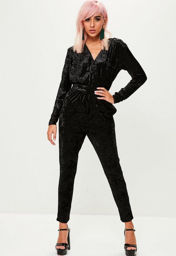 5e9f11c5a9a Black Velvet Jumpsuit