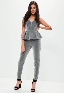 Silver Metallic Jumpsuit