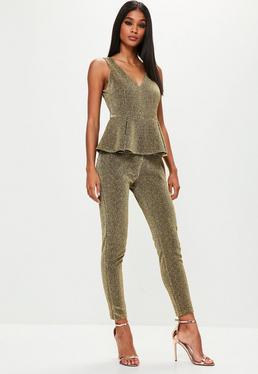 Gold Metallic Jumpsuit