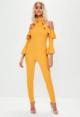 Yellow Bell Arm Jumpsuit