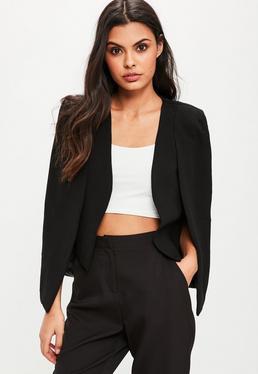 Black Cape Sleeve Blazer