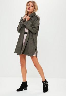Grey Trench Jacket