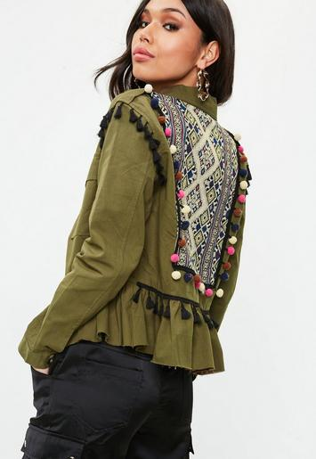 Back Detail Embroidered Jacket
