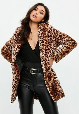 Brown Leopard Print Coat