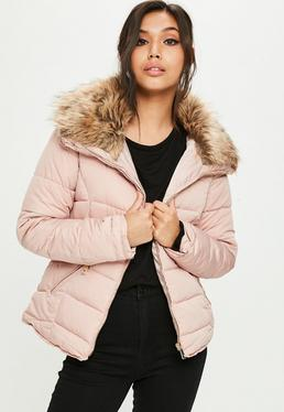 Pink Hooded Padded Jacket