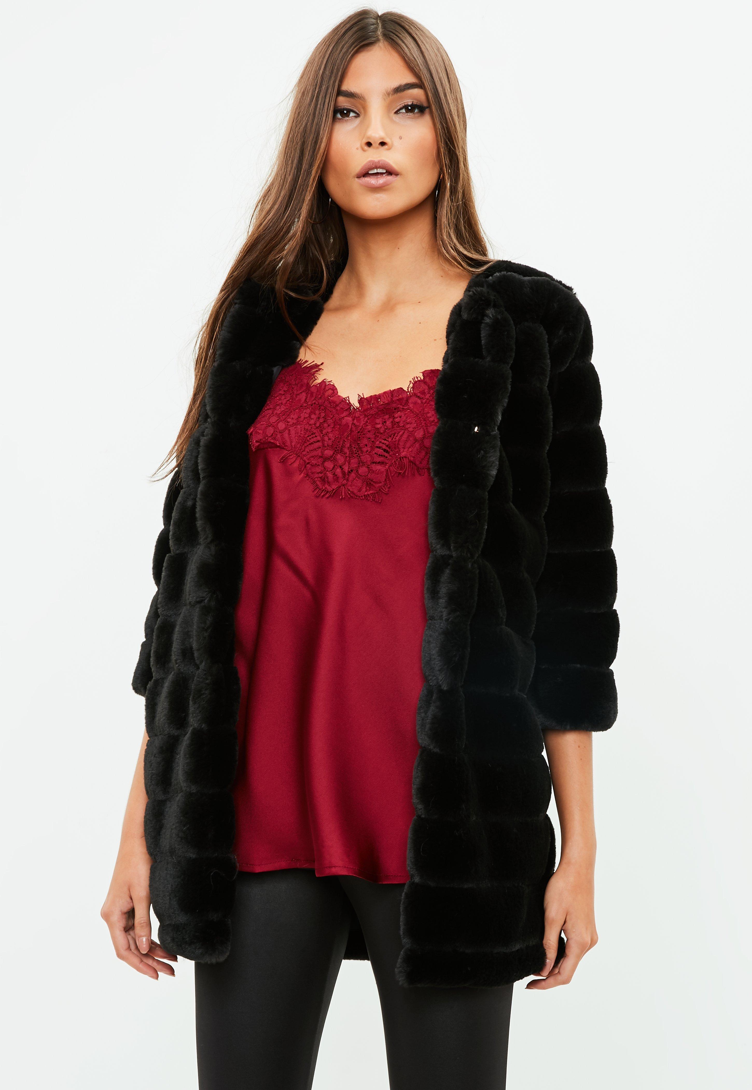 3f1ef266d651 Black Faux Fur Coat