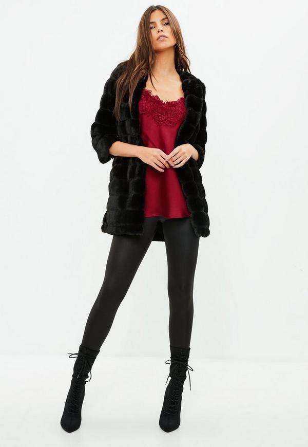 85415247292d ... Black Faux Fur Coat. Previous Next
