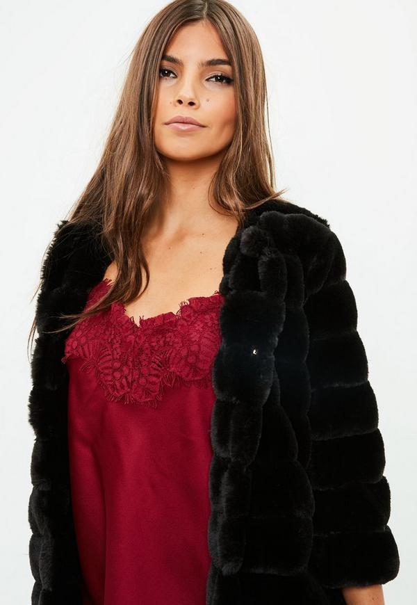 988e4daf40fe Black Faux Fur Coat. Previous Next