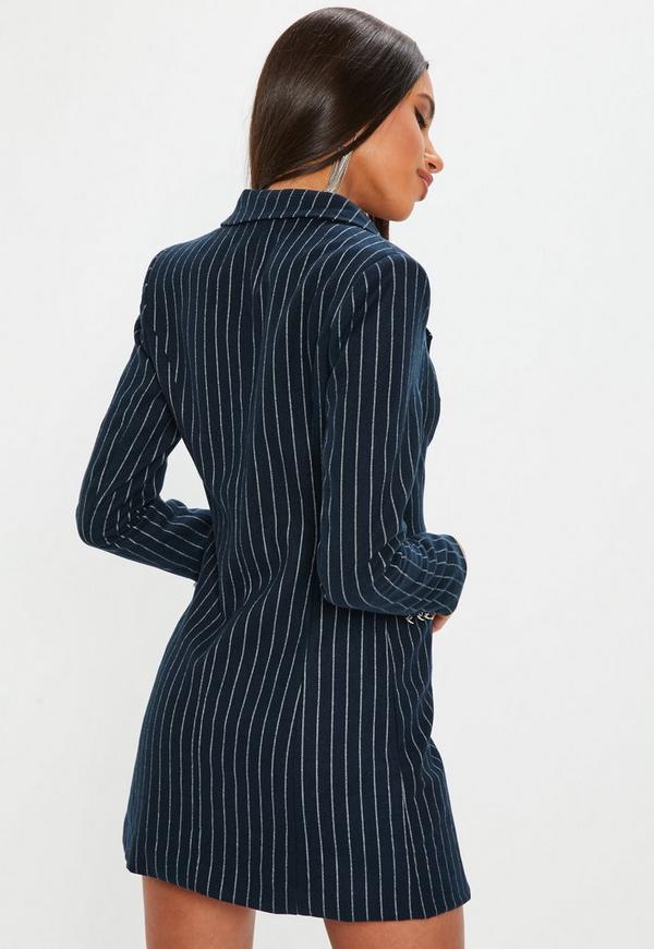 brave navy pinstripe blazer outfit shirt