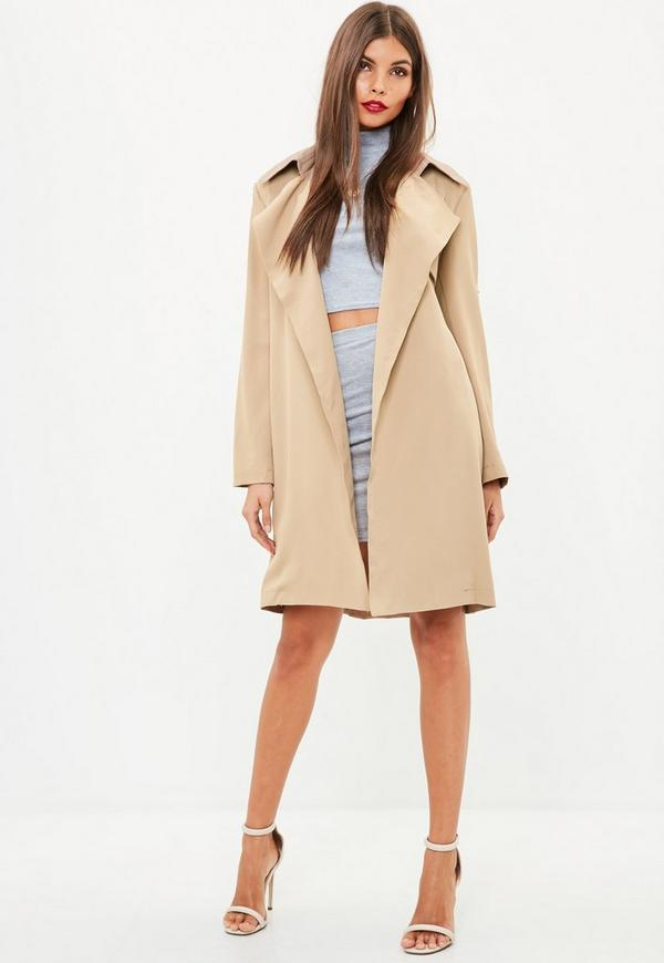 Nude Belted Trench Coat