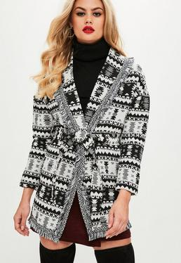 Black Knitted Tribal Jacket