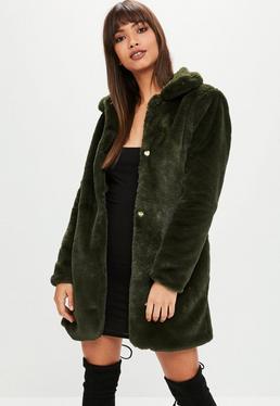 manteau de fourrure femme capuche col fourrure missguided. Black Bedroom Furniture Sets. Home Design Ideas