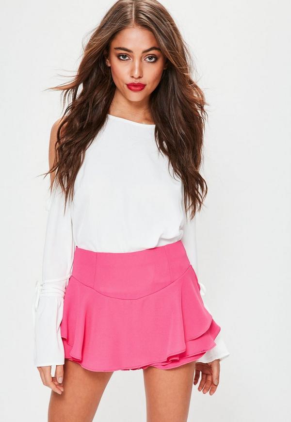Pink Frill Shorts