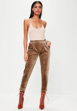 Brown Velvet Trousers