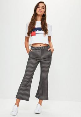Grey Pinstripe Pants