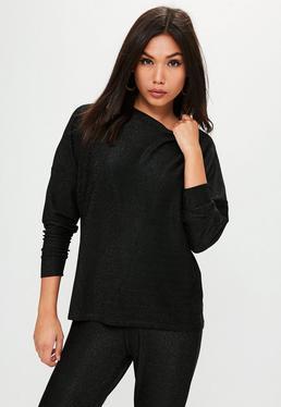 Czarna metaliczna bluza