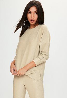 Gold Metallic Sweatshirt