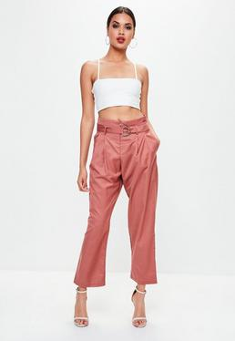 Pink D Ring Pants