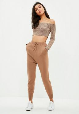Brown Knitted Joggers