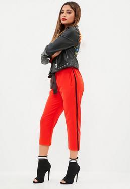 Red Side Stripe Trousers