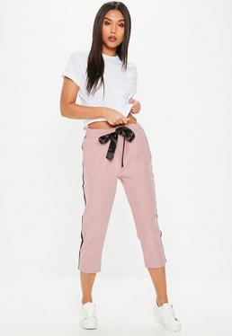 Pink Side Stripe Pants