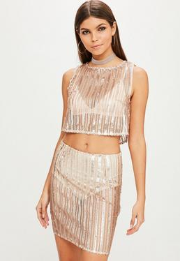 Gold Sequin Co Ord Top