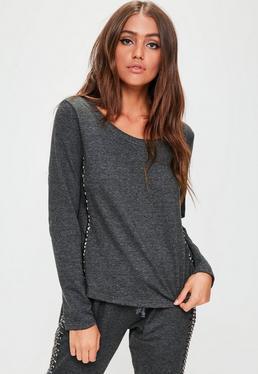 Grey Studded Sweatshirt