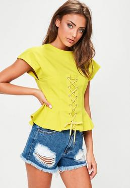 Yellow Corset T-Shirt