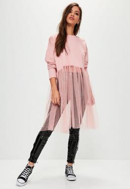 Pink Tulle Sweatshirt