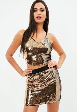 Bronze Sequin Cami Top