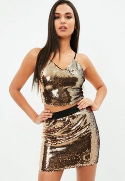 Bronze Sequin Cami Top
