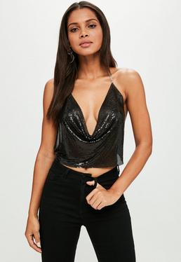 Black Chainmail Top
