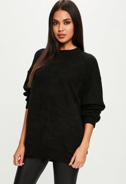 Black Ribbed Sweater