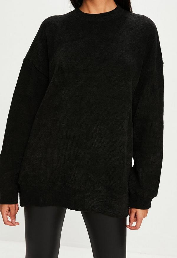 Black Ribbed Sweater | Missguided