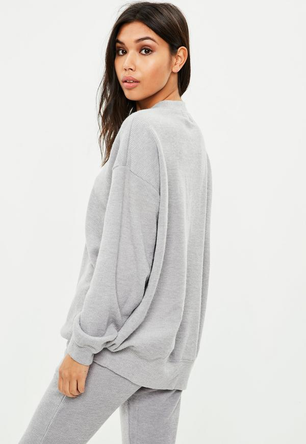 Gray Ribbed Sweater | Missguided