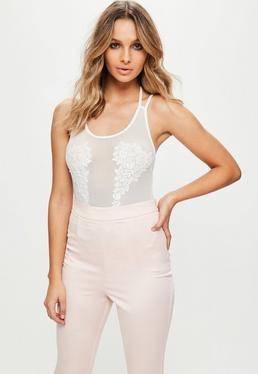 White Applique Bodysuit
