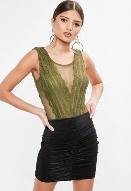 Khaki Lace Bodysuit