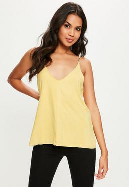 Yellow Suedette Cami Top