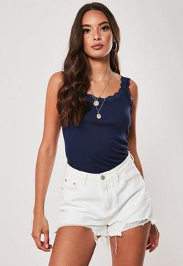 60accbf1235 Blue Tops | Navy & Cobalt Blue Tops | Missguided