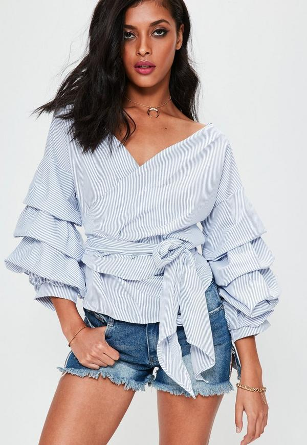 Fortunately, wrap tops are quite easy to tie and wear as long as the wearer has a little direction. Plus, once someone learns how to tie and wear a wrap top, she can be creative and tie it in unique and different ways. The longer the ties on the wrap top, the more creative the wearer can be.