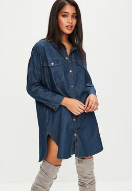 Blue Oversized Denim Shirt