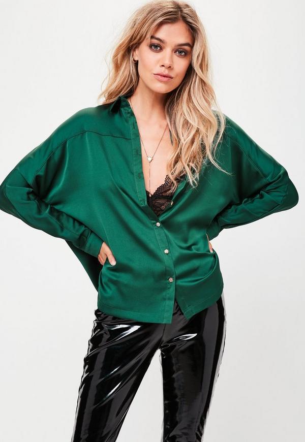 e229306147435 Home    Green Silky Shirt. Previous Next